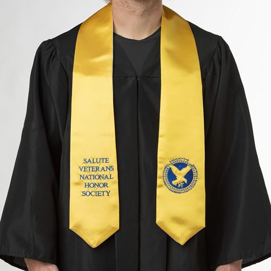 newest 7bf3d ac7ea SALUTE Graduation Stole - Gold/Blue (Graduate Degrees)